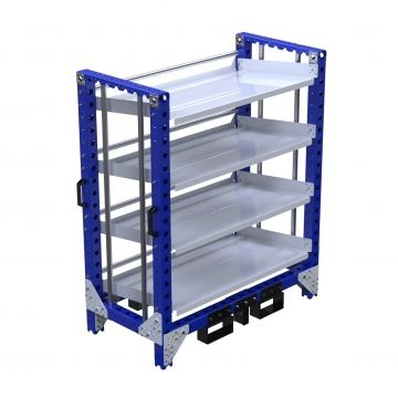 Flow shelf rack