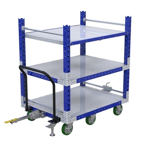Flat Shelf Tugger Cart - 1050 x 1400 mm