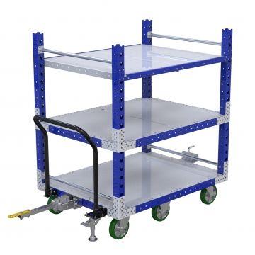 Flat Shelf Tugger Cart - 1050 x 1400 mm