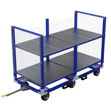 Large flat shelf cart