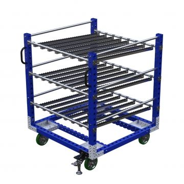 Roller shelf cart