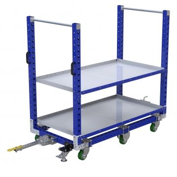 Flat Shelf Tugger Cart - 910 x 1750 mm