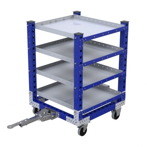 Flat Shelf Cart - 840 x 840 mm