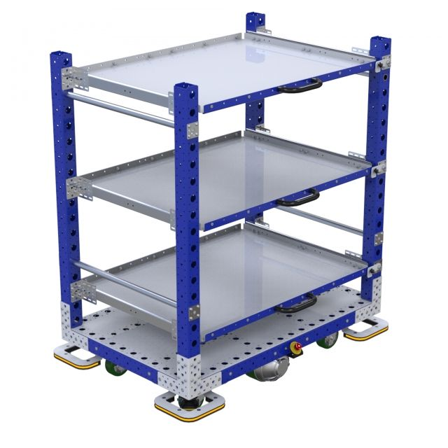 Flat shelf eQart