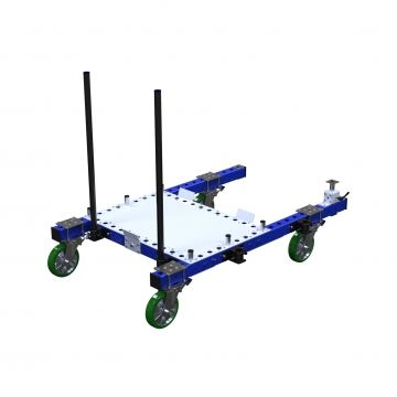 Pallet cart with handlebars and polyurethane casters