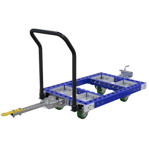 Standard pallet cart for transporting pallets or containers.
