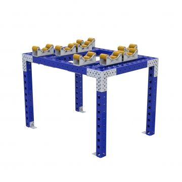 This rack is designed to place cylinders of a special size on top.