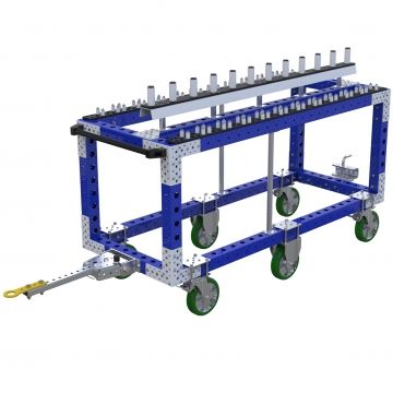 Tugger cart for shaft - 700 x 1750 mm