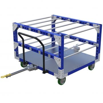 Custom tugger cart with top structure