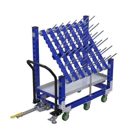 Angled tube kit cart - 630 x 1190 mm