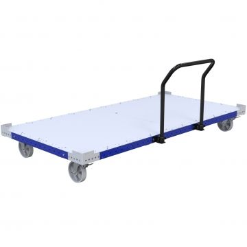 Flatbed pallet cart designed for transporting pallet, containers, boxes or loose parts