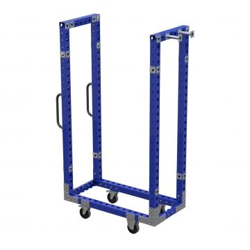 Shelf cart frame