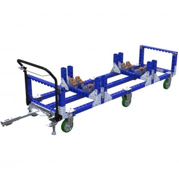 Large and long custom tugger cart