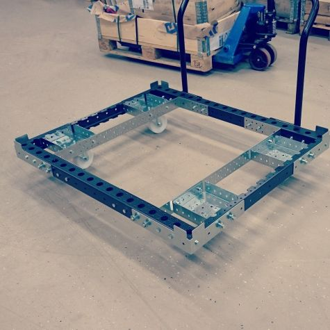 Base cart 1260 x 1050 mm with removable handle bar