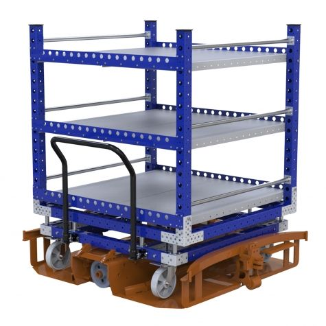 Flat shelf cart - 1260 x 1400 mm