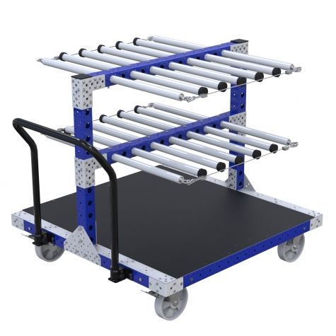 Cart with Tube Dividers - 1260 x 1260 mm