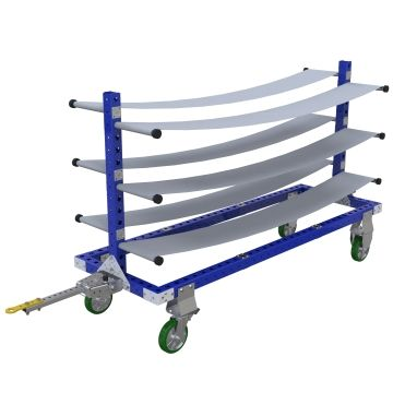 This cart was designed to store and transport fuel lines.