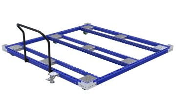 Push cart designed to transport large pallets and containers.