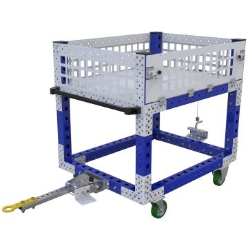 This cart was designed to transport scrap material away from the assembly area.