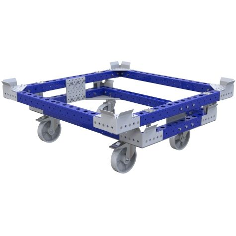 Pallet cart designed to be transported in Liftrunner frame.