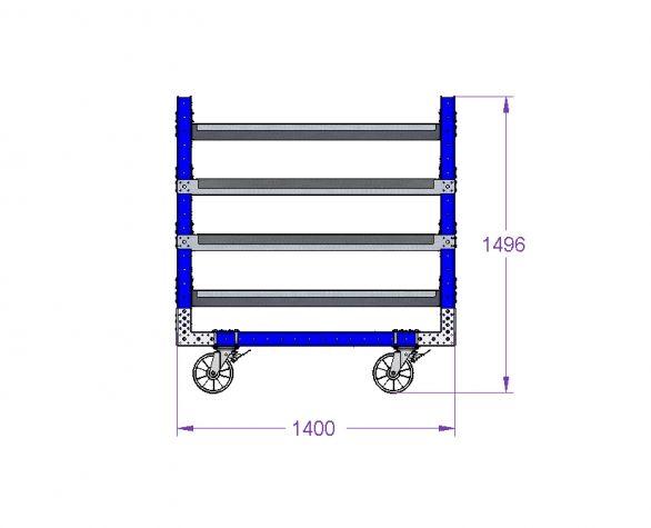 Shelf Cart 55 x 30 inch