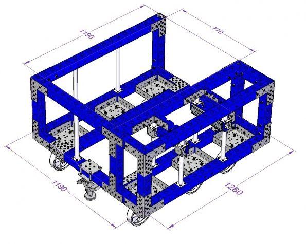 Heavy Duty Assembly Cart