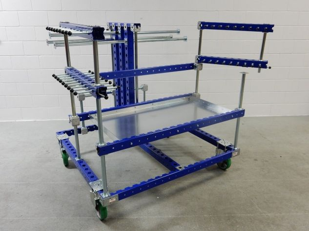 Hose Cart with Swingable Arms
