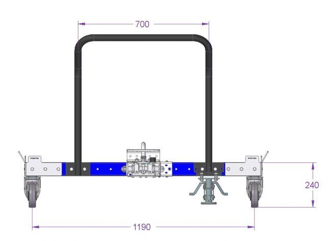 Tugger Cart - 66 x 50 inch