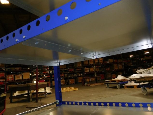Tuggable Flat Shelf Cart 55 x 41 inch