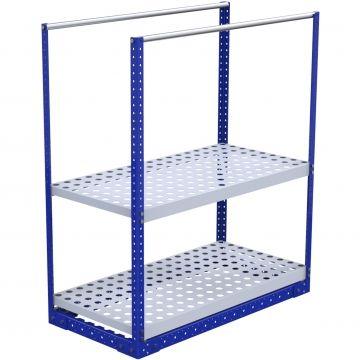 Flat shelf structure for AGV integration.