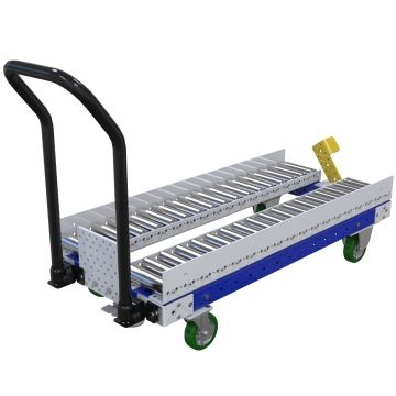 Roller cart designed to make it easy for operators to move fully loaded pallets and containers throughout the facility.