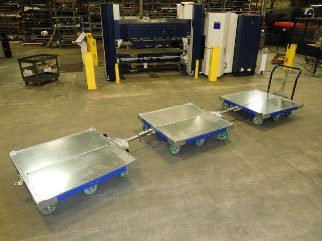 FlexQube Flat Bed Industrial Carts