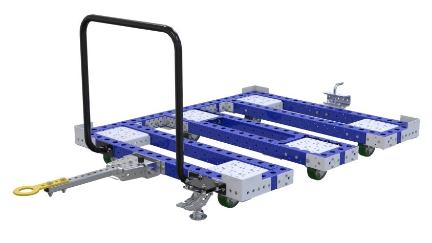 Tuggable pallet/container cart.