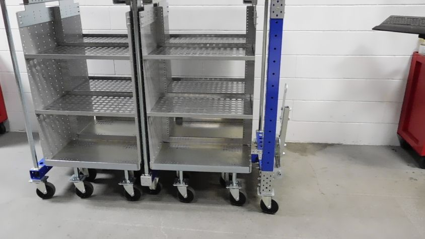 Mother Daughter Cart System 4 in 1 High Dollies with Shelves