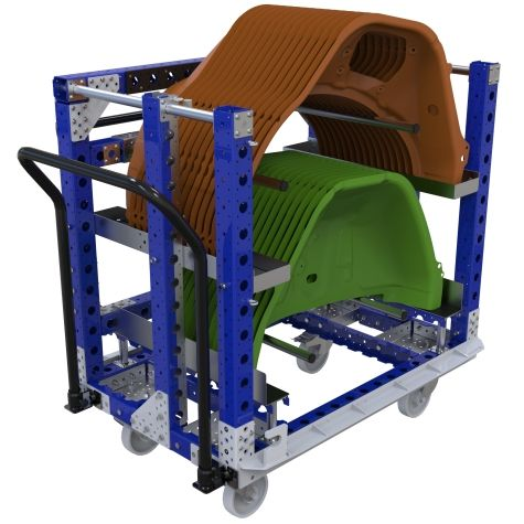 Kit cart designed to transport automotive parts.