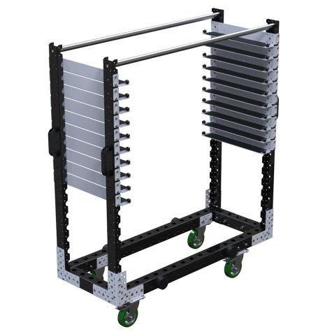 Shelf Cart with narrow shelves
