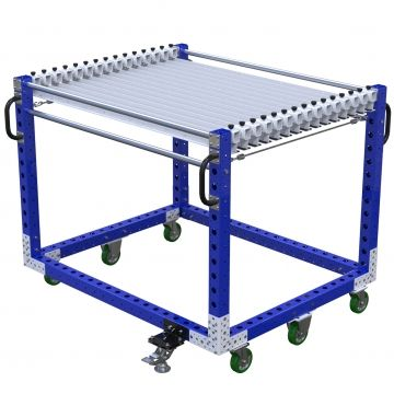 Hanging cart designed to store and transport coiled hoses or similar products