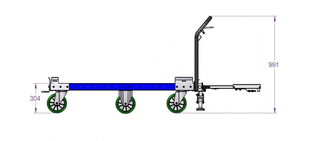 G-Pallet Tugger Cart 1470 x 840 mm