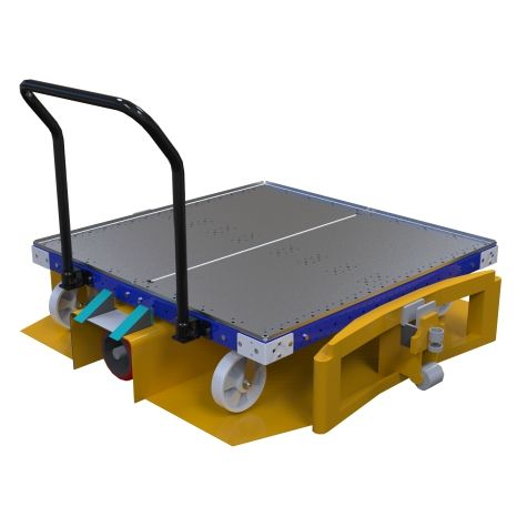 Heavy-duty pallet cart.