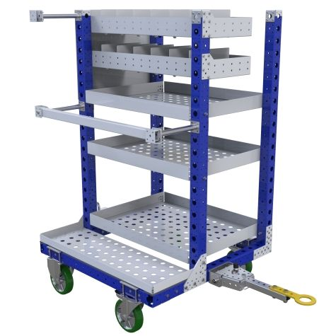 This kit cart is designed to transport various materials and parts.