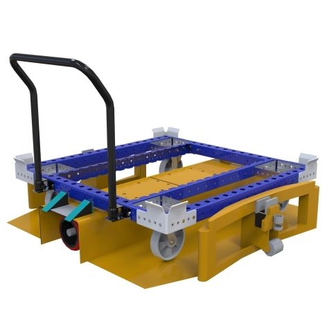 Standard pallet cart designed to transport pallet either by hand or in a LiftRunner frame.