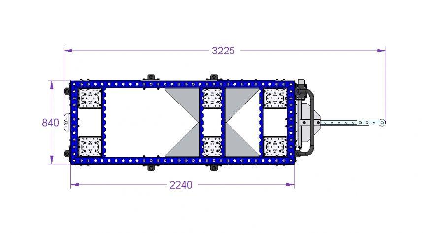 Tugger Train Cart 2240 x 840 mm