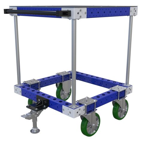 One level work/assembly table cart.