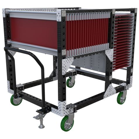 This cart is specially developed to transport panels.