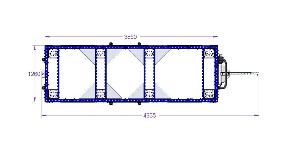 Tugger Train Cart 3850 x 1260 mm