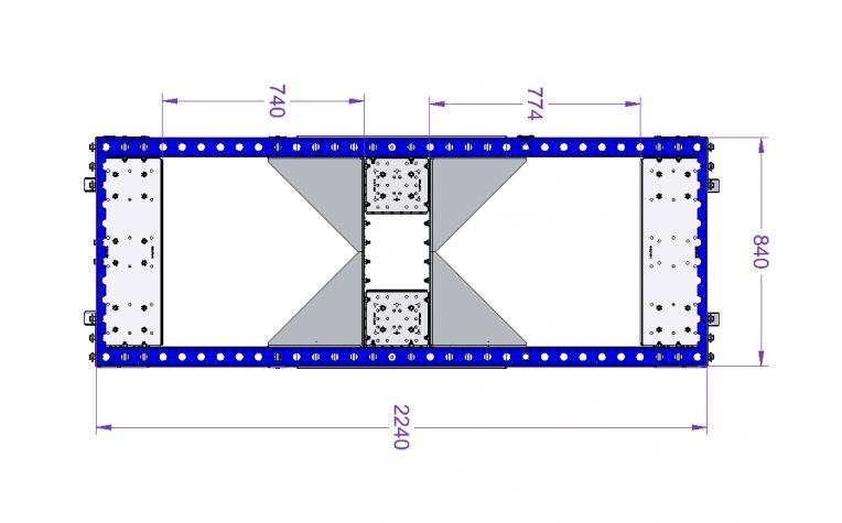 Pallet Cart 2240 x 840 mm