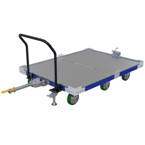 Tugger cart with flat deck