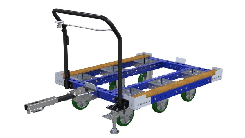 Tugger Cart with trigger release
