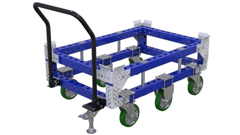 Pallet cart for better ergonomics