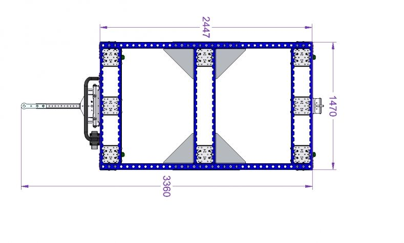 Tugger Cart 96 x 57 inch